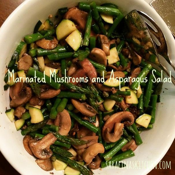Marinated Mushrooms and Asparagus Salad | Sarafina's Kitchen